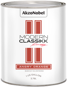 Modern Classikk Angry Orange Midcoat (Requires Black Groundcoat) Solventborne 1 US Gallon