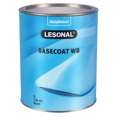 Lesonal Basecoat WB 46 Blue (Green) Transparent 1L