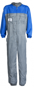 I WEAR SPRAY COVERALL XXX LG GREY/L.BLUE